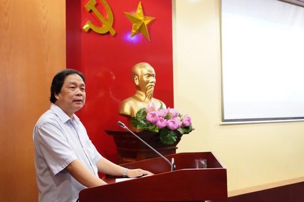 GS.TS. Đặng Nguyên Anh, Phó Chủ tịch Viện Hàn lâm Khoa học Xã hội phát biểu chỉ đạo. Ảnh: CĐ Viện Hàn lâm